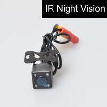 Car Auto Automotive Front View Forwards Camera 4 Infared Night Vision IR Lights Free 6M / 20FT RCA Video Extension Cable