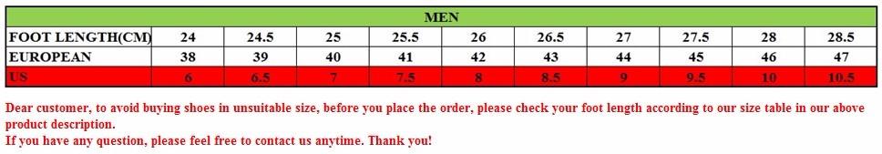 men sports size