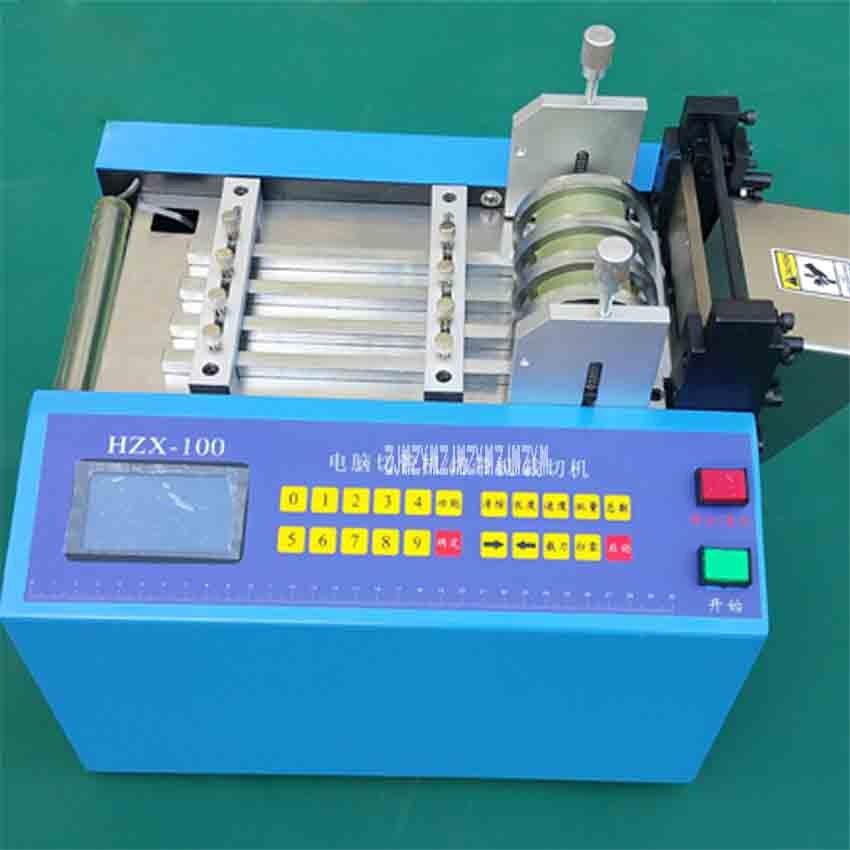 Máquina de corte automática quente HZX 100 da mangueira do pe do tubo do calor shrinkable da máquina de corte da tubulação do microcomputador 110 v/220 v 350 w 0 100mm