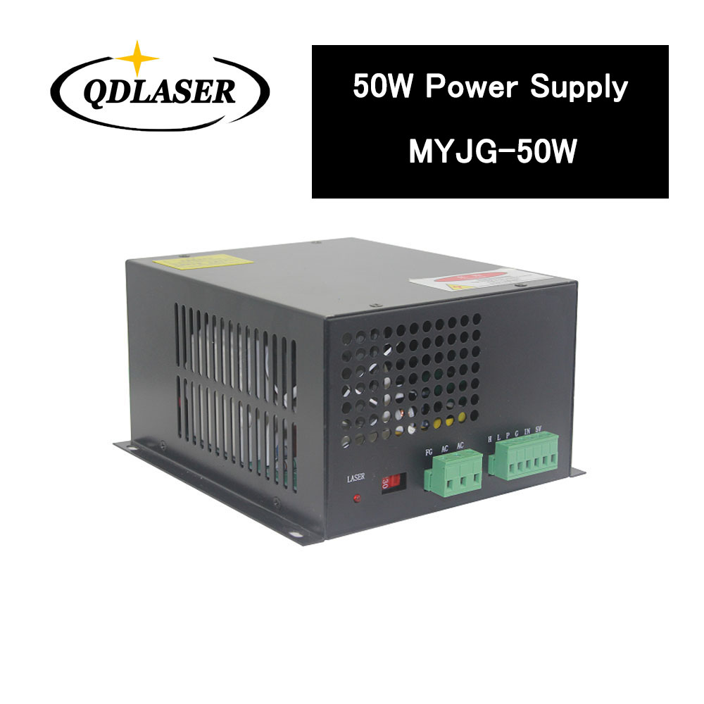 50W CO2 Laser Power Supply for CO2 Laser Engraving Cutting Machine MYJG-50W co2 laser machine laser path size 1200 600mm 1200 800mm