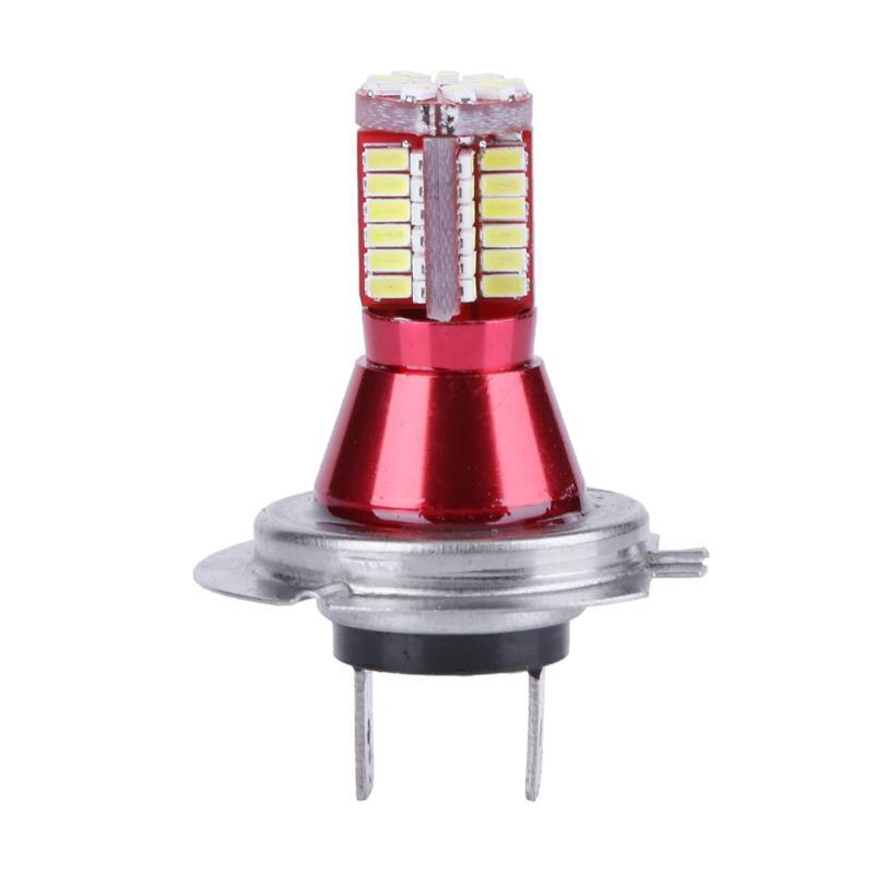2pcs 3014 H7 57SMD LED Front Rear Fog Light Lamp Bulb Daytime Running Light LED Headlights Bulb Fog Light High Quality Lights