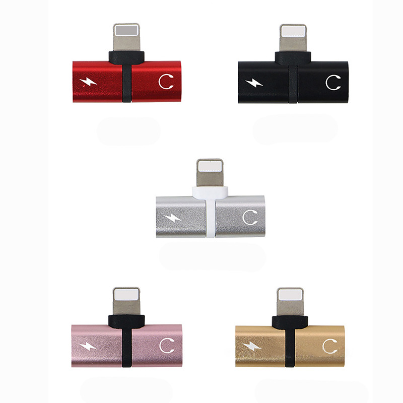 Splits Up into AUX n Charger Splitter Adapter Earphone 2in1 BF1 for Apple iPhone Lightning dock