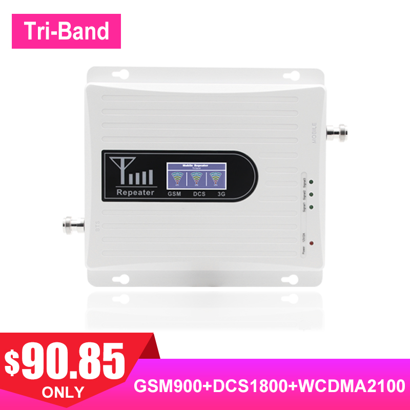 GSM 900MHZ 2G 3G WCDMA 4G LTE Cellphone Signal Amplifier UMTS 2100MHZ DCS 1800MHZ Internet Cell Payload 2G Voice 70dB Booster .