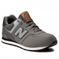 NEW BALANCE Child shoes Unisex KL574YHG, free and Time sportwear, Grey