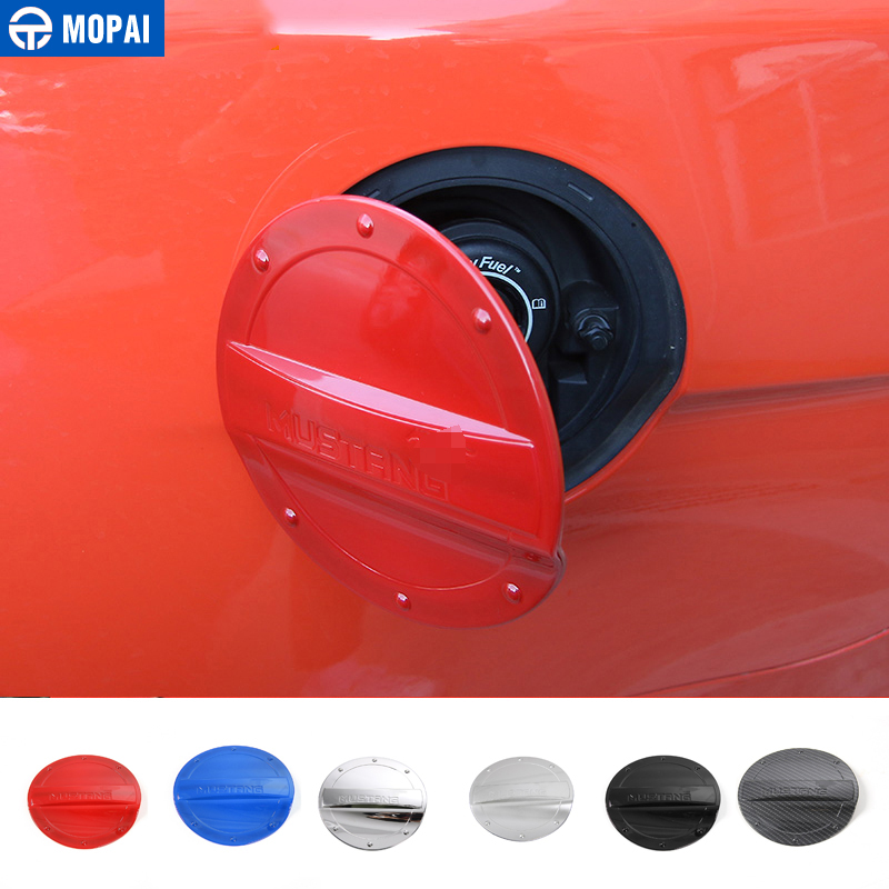 ABS Red Fuel Tank Cap Gas Oil Box Cover Trim Fit For Ford F150 F-150 2015-2018