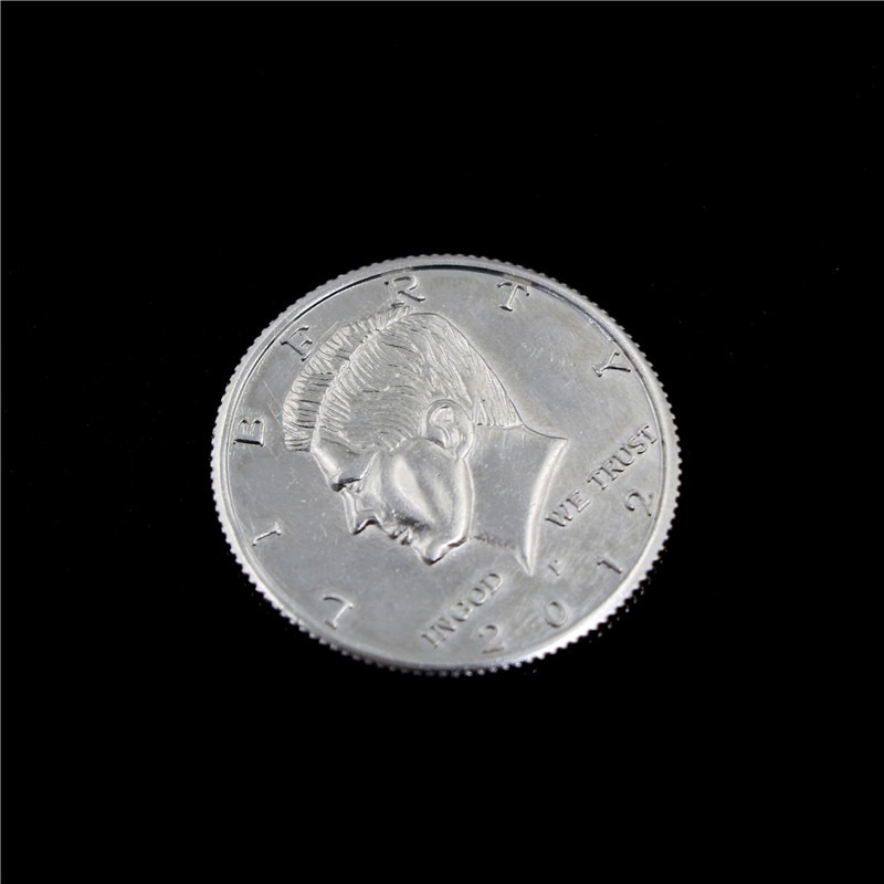 Magnetic Flipper Coin Butterfly Coin&Money Magic, Magic Trick Coin Magic Props Close Up Props (Made Of Half Dollar Copy )