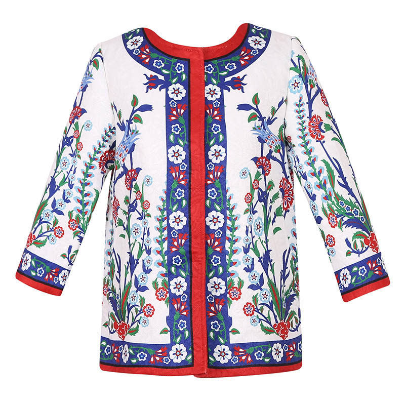 FANAIDENG child's neck in the spring and autumn William  Europe coat girls girls coat female floral wicker asus zenbook ux303ub