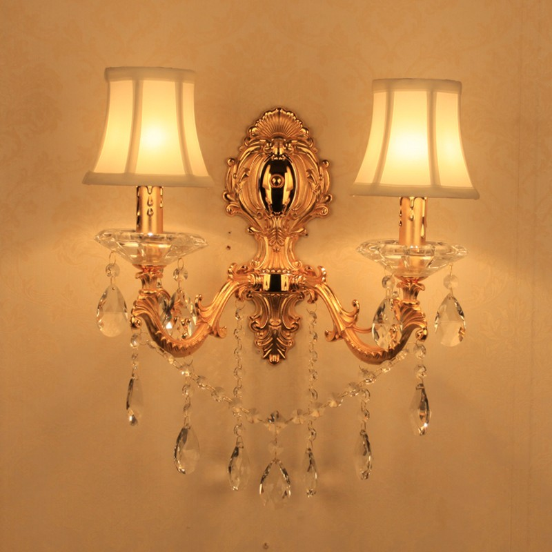 Bathroom Light Mirror Wall Light E14 Candle Crystal Wall Sconce Light for Home Lighting Led Wall Lamp Living Room Wall Sconces