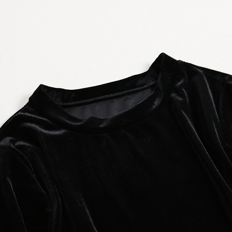 ea61999392 autumn spring woman clothing set black brown velvet blouse + black white  plaid pattern mini skirt + wide belt sash office outfit-in Women s Sets  from ...