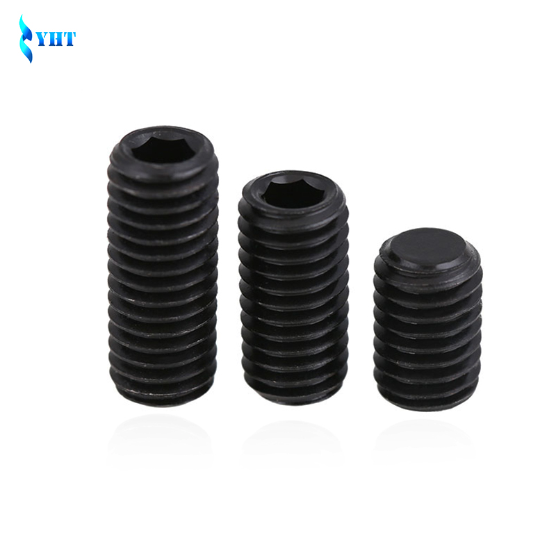 M1.6 M2 M2.5 M3 M4 M5 M6 DIN916 Black Carbon Steel Metric Thread Grub Screws Inner Hexagon Socket Set Screw Kimi 12.9 machine 4pcs set hand tap hex shank hss screw spiral point thread metric plug drill bits m3 m4 m5 m6 hand tools