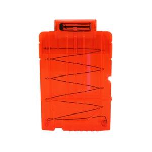 6 Reload Clip Magazines Round Darts Replacement Plastic Magazines Toy Gun Soft Bullet Clip Orange For Nerf N-Strike Elite