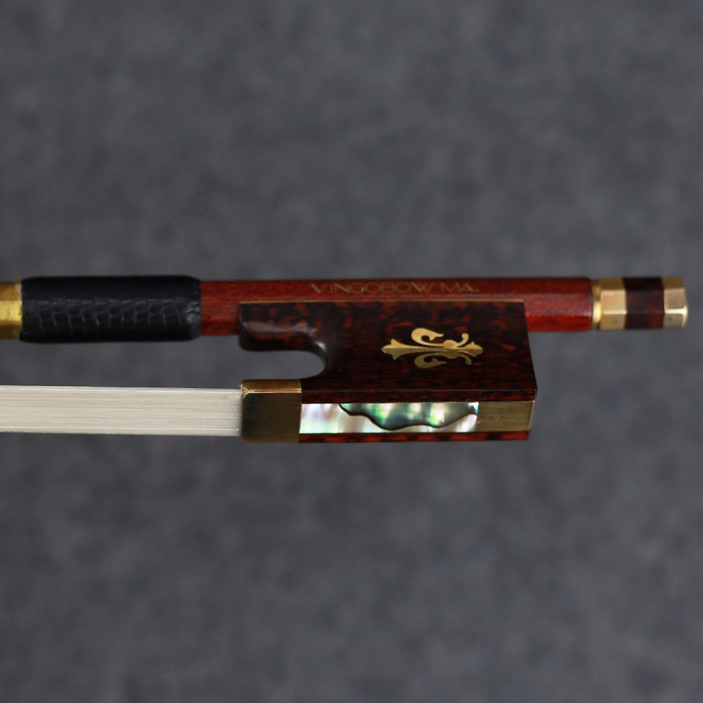 127V 4/4 Size VIOLIN BOW Carbon Fiber Core with Pernambuco Skin Stick Snakewood Frog Natural Horsehair 127v 4 4 size violin bow carbon fiber core with pernambuco skin stick snakewood frog natural horsehair violin parts accessories