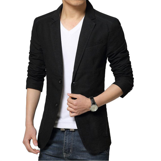 031c664ad7b 2016 New Autumn Fashion Black Blazer Jacket Men Casual Brand Slim Fit  Single Breasted Blazer Suit Jacket Design Blazer Masculino