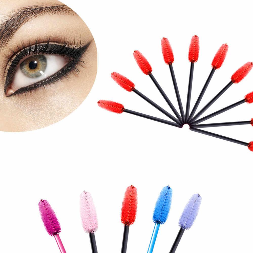 New 2018 Fashion 10 pcs make up brush Pink synthetic fiber One-Off Disposable Eyelash Brush  Drop Shipping