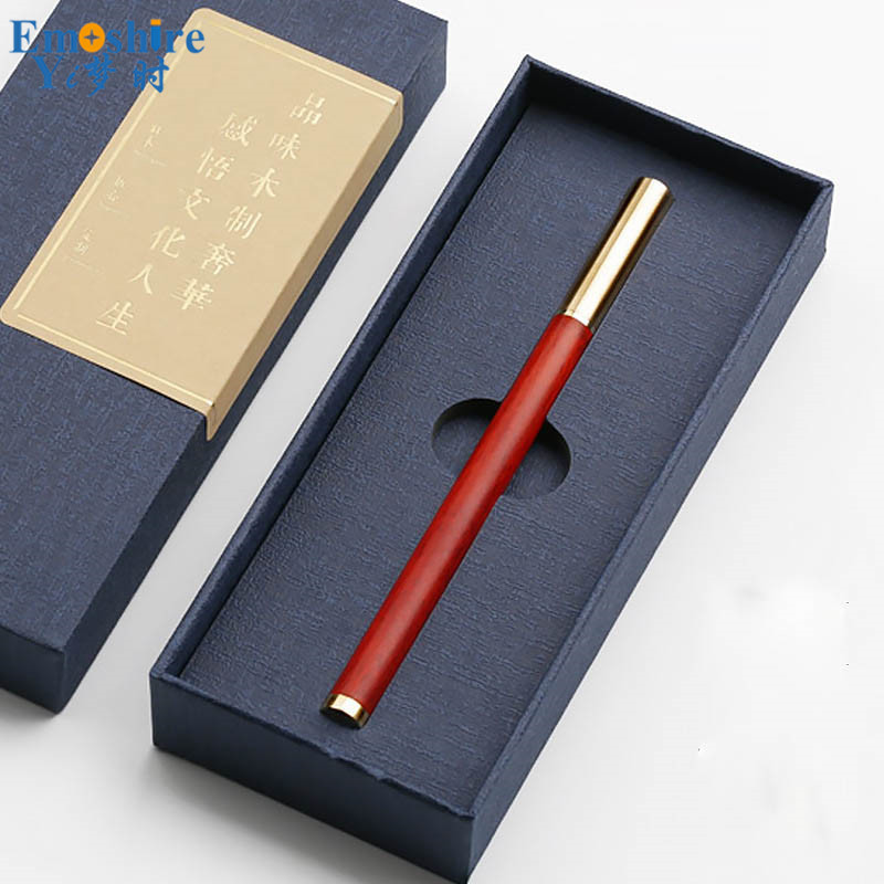 Unique Design Brand Ballpoint Pen Roller Ball Pen Luxury Ballpoint Pens for Weeding Gifts with Pencil Case Pencil Box P442 roller ball pens ballpoint pens with fountain pens gifts sets business gifts for company meeting best wooden stationery p113