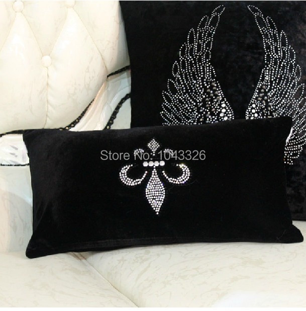 Wholsale! 1PCS Luxury Florence Velvet diamond pillow cover pillow cushion Home decoration sofa cushions Car Cushion 24cm*46cm