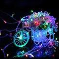 LED de vacaciones luces de Cadena 10 M 20 M ~ 100 M Navidad/de La Boda/Del Partido Luces Decoración AC 110 V 220 V Impermeable al aire libre llevó la lámpara