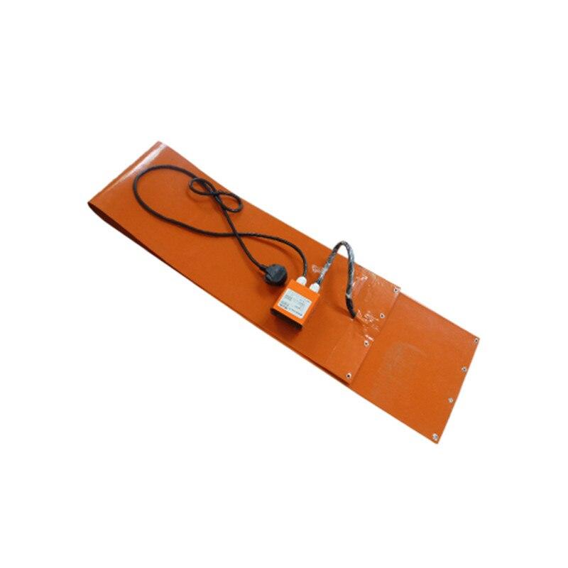 Aquecedor de Borracha w com Termostato Digital Tambor Silicone Jaqueta Aquecimento 125x1740mm 220 v 1000