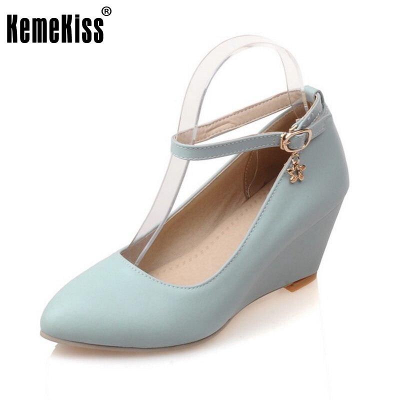 0d47a743111 Mulheres apontou cunhas toe com tira no tornozelo salto alto sandálias  P23026 gentlewomanly qualidade primavera salto alto calçados tamanho 33-43