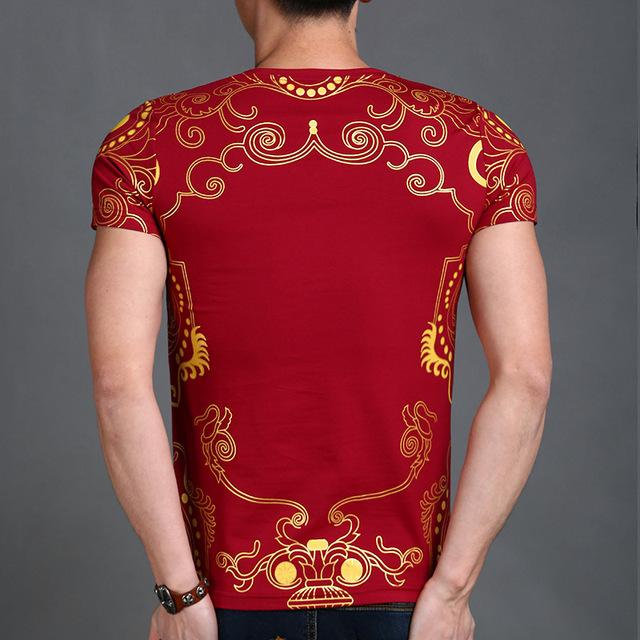 Fashion Luxury Casual Cotton V Neck T- Shirt