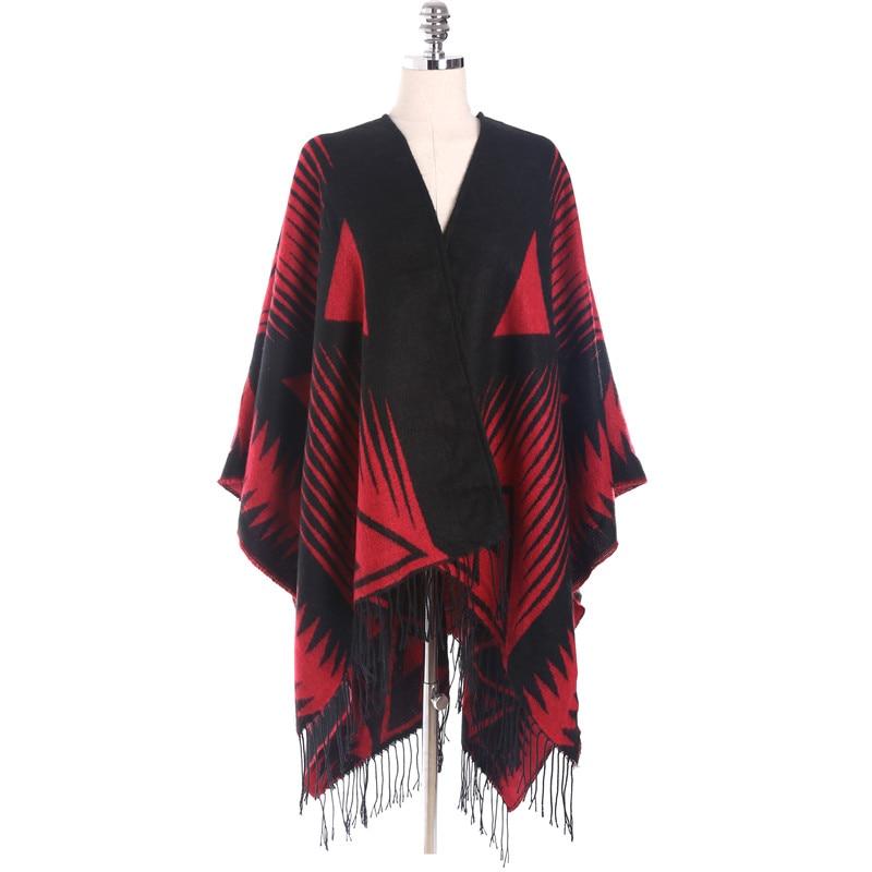 2017 New Fashion Womens Shawls And Wraps Geometric Warm Big Pashmina Cashmere Shawl Bandanas Tippet Oversized 130*190CM