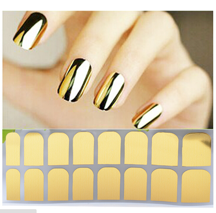 Fashion Metallic Nail Polish Stickers DIY Nail Art Styling Decorations Stickers Tips Gold And Silver Black Water Transfer Metal diy 3d gold silver transparent mini caviar beads gel polish nail art tips charm metallic pearl ball pro manicure pedicure