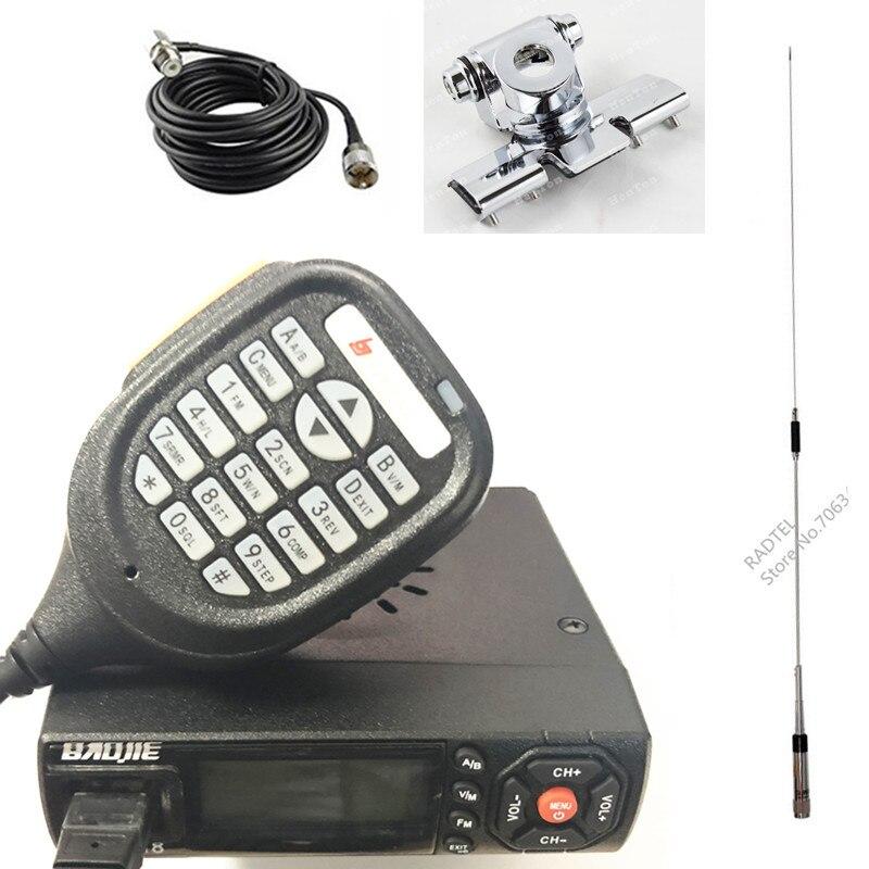 Baojie BJ 218 Mini Mobile Radio 136 174 400 480MHz BJ 218 Dual Band Two Way