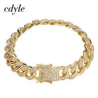 Cdyle Women Chain Hip Hop Men Gold Color Bangles Bangle Bracelets Bracelet Silver Plated Color Austrian