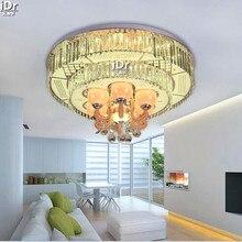 Современная гостиная круглый светодиодный кристалл лампы кристалл лампы минималистский гостиной Потолочные Светильники Высококлассные атмосфера D800xH450mm