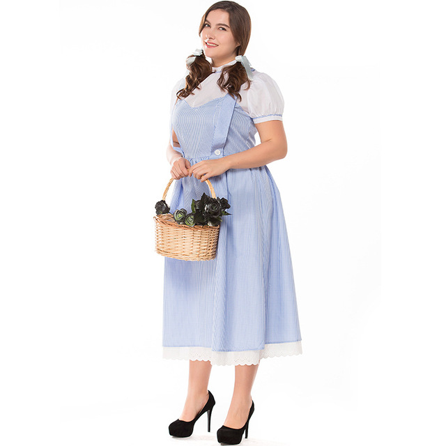 Adult Women Dorothy Costume Girls Maid Dress Short Sleeves Outfit Overalls Clothing For Ladies S-  sc 1 st  AliExpress.com : dorthy costumes  - Germanpascual.Com