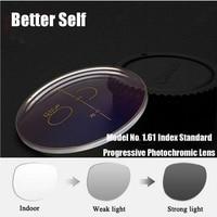 Better Self 1.61 Photogray Standard Front Side Multi Focal Progressive Photochromic Transitions Lens Myopia Presbyopia Glasses