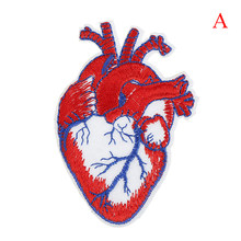 1PCS Large Patches For Clothing Jeans Heart Punk Patch Biker Rock Iron On Motorcycle Jacket Back Big Patches Cheap Embroidered(China)