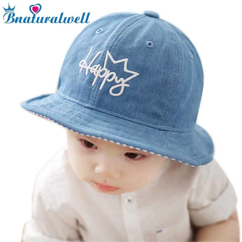 Bnaturalwell Baby Boy Bucket Hat Panama Girls Sun Hat With Brim Kids Cotton Summer  Bucket Hat 12dc6c625fc0