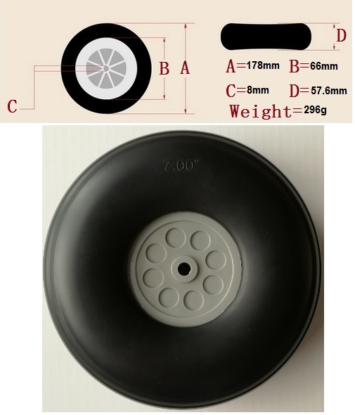 7 Inch Big Wheel for RC Planes