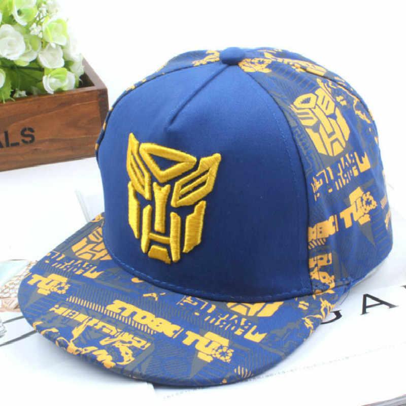 eda95f93bca 2019 New Embroidery Transformer Cap Super Car Man Baseball Caps Kids Hats  Boys Girls Hip Hop