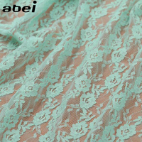 Rose Embroiderie Lace Fabric 150CM DIY Decorative High Quality Soft Off White Nylon Stretch Lace Trim