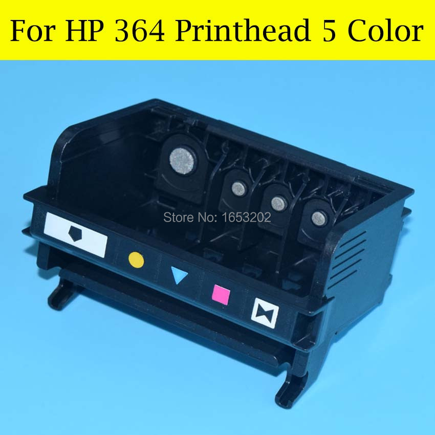 5 Color Print Head For HP 364 Printhead For HP Photosmart C5380 C6380 C510A C309A C309C C410b C310C 364 Printer Nozzle brand refurbished print head printhead for hp 920 photosmart plus e all in one b210c