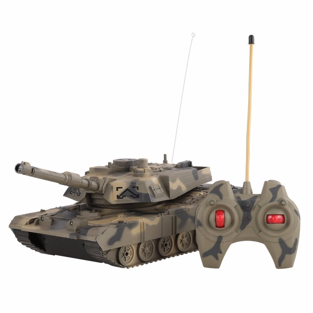 RC Tank Toys 1:14 4CH Simulation RC Military Tank Turret Rotation Light & Music Remote Control Car Model Toys for Children Gift baby toys rc tank boy toys amphibious tank 4ch 1 30 large rc tank toy remote control tank fire bb bullets shooting gift for kids