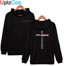 UplzCoo Kreeg 7 Hip Hop Zip up Hoodies Fashion Jonge Mannen Vrouwen Harajuku Printing Jassen Jongens Herfst Winter Sweatshirts 4XL OA049(China)