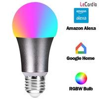 New E27 E26 B22 WiFi Bulb LED Smart Home Light Bulb RGBW Wake Up Lamp Multicolor Dimmable Compatible Alexa Google Assistant