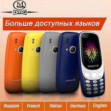VKworld Z3310 Russian Keyboard Elder Mobile Phone 2.4″ 1450mAh Battery Big Speaker Wireless FM students Cell phone Telephones