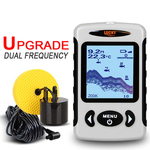 Image 2 - LUCKY FF718D Portable Fish Finder Dual Sonar Frequency 200KHz/83KHz 100M Detection Muti language Fishfinder Sonar for Fishing