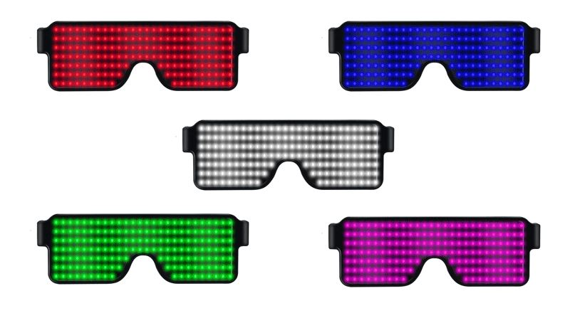 Sales Led Party Glasses 8 Modes LED Luminous Glasses For Christmas Concert Party Decoration Light Toys For Holiday Christmas