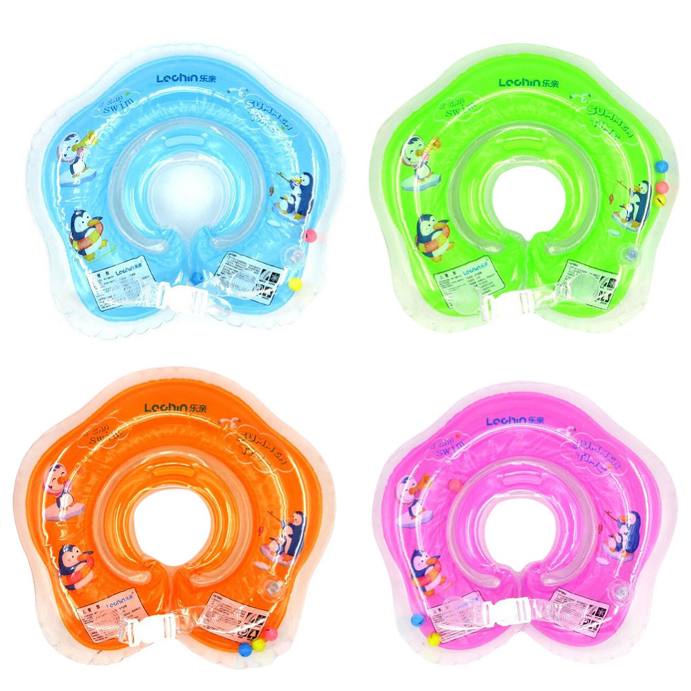 2016 Inflatable Circle New Born Infant Adjustable Swimming Neck Baby  Swim Ring Float Ring Safety Double Protection MY18