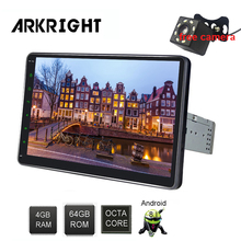 ARKRIGHT 10.1 Car Multimedia player Android 8.1 GPS 1Din Radio Auto 8 Cores 4+64gb Player GPS/zlink 4G SIM