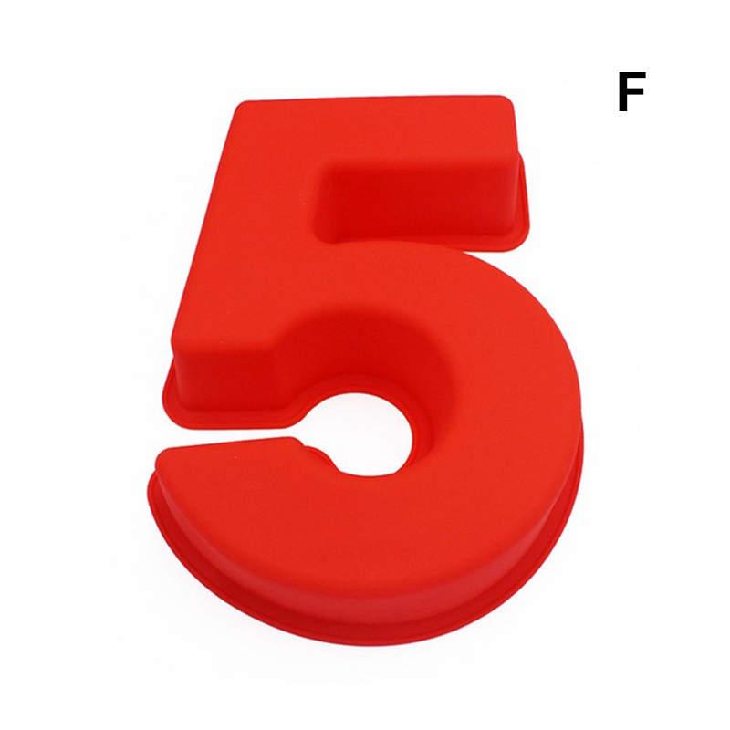 0-9 цифр, форма для торта, форма для украшения тортов, инструмент для свадьбы, дня рождения, юбилея - Цвет: 5