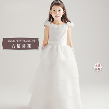 2016 Special Offer Girl Dress Summer High-grade Wedding Dresses Children Embroidered Party Dresse Bridesmaid Dress110-150cm