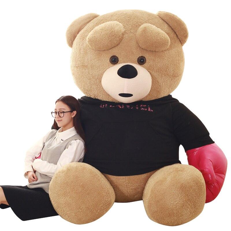 1 шт., 240 см, Kawaii Spuer, большой размер, боевой медведь, мягкие плюшевые игрушки, детские игрушки, огромное плюшевое животное, куклы, хорошее качество, подарки - 5