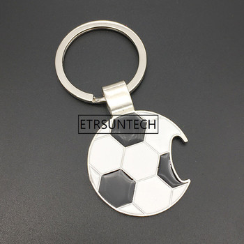 100pcs Football Bottle Opener Beer Openers Keychains Key Rings Car Key Holder Soccer Fans Fashion Creative Gifts