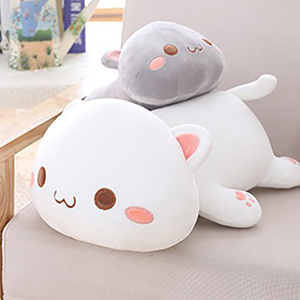 35/50/65cm Soft Animal Smile Cat Pillow Cushion Cute Fat Plush Toy Stuffed Best Birthyday Gift For Children/Girlfriend